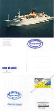 Spannish ferry Ciudad de Badajoz barcos en la memoria caché Cubierta Y Postal