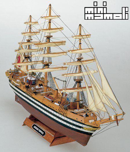 Mini Mamoli Amerigo Vespucci 1 350 MM10 Scale Model Boat Kit