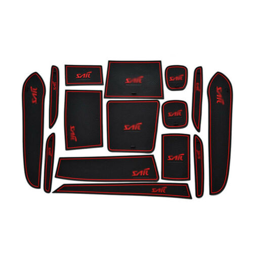 Non-Slip Interior Soft Rubber Door Panel Mats Cup Holder Pad For Chevrolet Sail