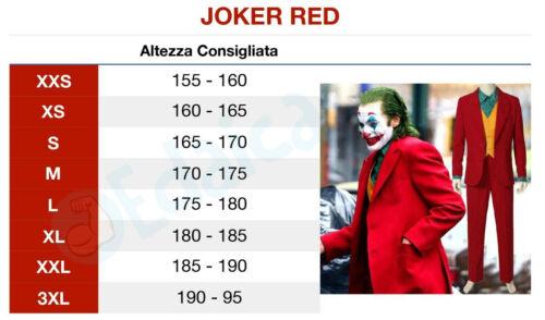 Costume da Joker il film abito rosso carnevale adulti vestito cosplay completo
