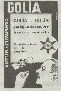 Y3352-Caramelle-GOLIA-Pubblicita-d-039-epoca-1935-vintage-advertising