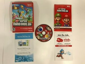 NINTENDO-WII-SUPER-MARIO-BROS-COMPLETE-IN-BOX-W-MANUAL-CIB-TESTED-amp-WORKING