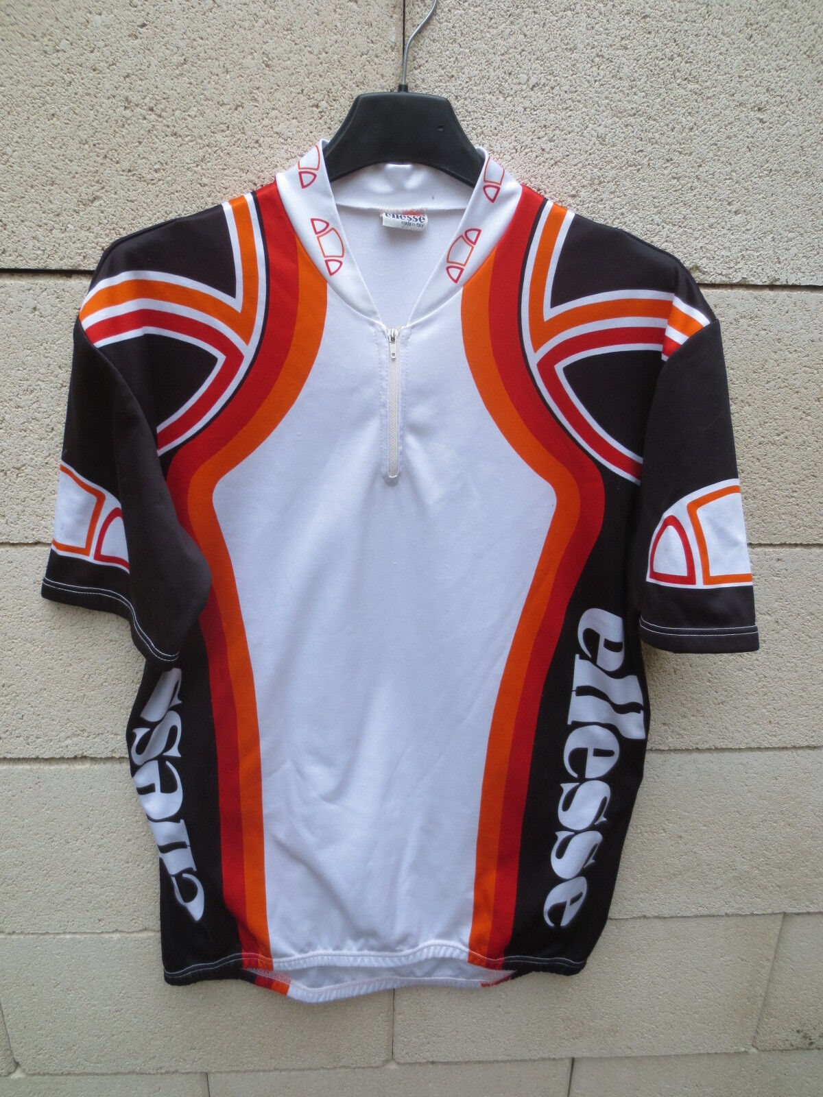 VINTAGE Maillot cycliste ELLESSE maglia cycling jersey shirt collection L