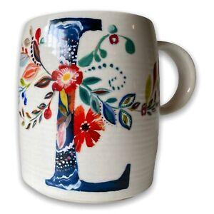 STARLA M. HALFMANN ANTHROPOLOGIE MONOGRAM LETTER L MUG—COFFEE TEA CUP