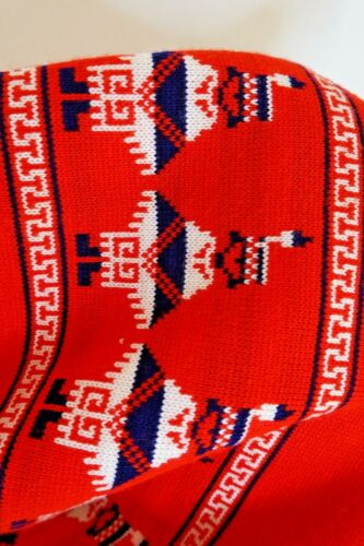 Vintage 60s 70s Native American Indian Knit Poncho