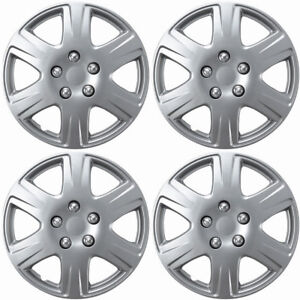 4pc-Hub-Caps-Fits-92-16-Toyota-Corolla-15-Inch-Wheel-Cover-Rim-Silver-Skin