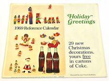Bel vecchio Coca-Cola Calendario 1969 USA Coca Cola calendario