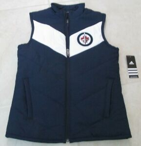 Details about NEW ADIDAS NHL WINNIPEG JETS HOCKEY VEST WOMENS SIZE SMALL  NAVY & WHITE