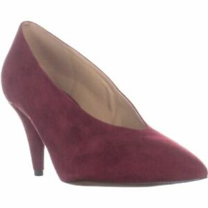 2e96ab5d0cee Image is loading MICHAEL-Michael-Kors-Lizzy-Mid-Pump-in-Maroon