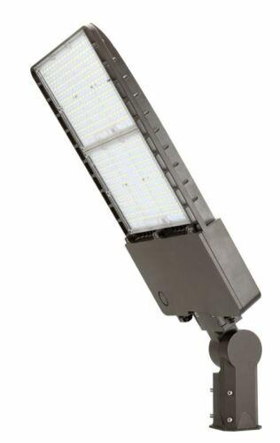 LED Bronze Shoebox Parking Lot Pole Lights 300 Watt  5000K 480V Slip Fitter