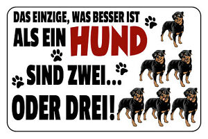 Besser As A Dog Two Tin Sign Shield Metal 20 X 30 CM W1244