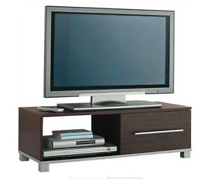 TV-Stand-Entertainment-Stand-1-Drawer-Dark-Brown-Marlow-Range-Television-Seconds