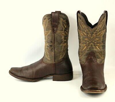 Montero Cowboy Boots Brown Leather Mens