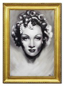Quadro-a-Olio-Dipinto-Immagine-Mano-Marlene-Dietrich-96516