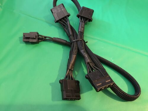 2 PCS eVGA 6 pin Perif to 4x IDE DRIVER POWER cable FOR EVGA SuperNOVA 850