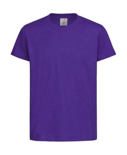 blanc Stedman Enfants Basic T-shirt noir violet taille 158//164