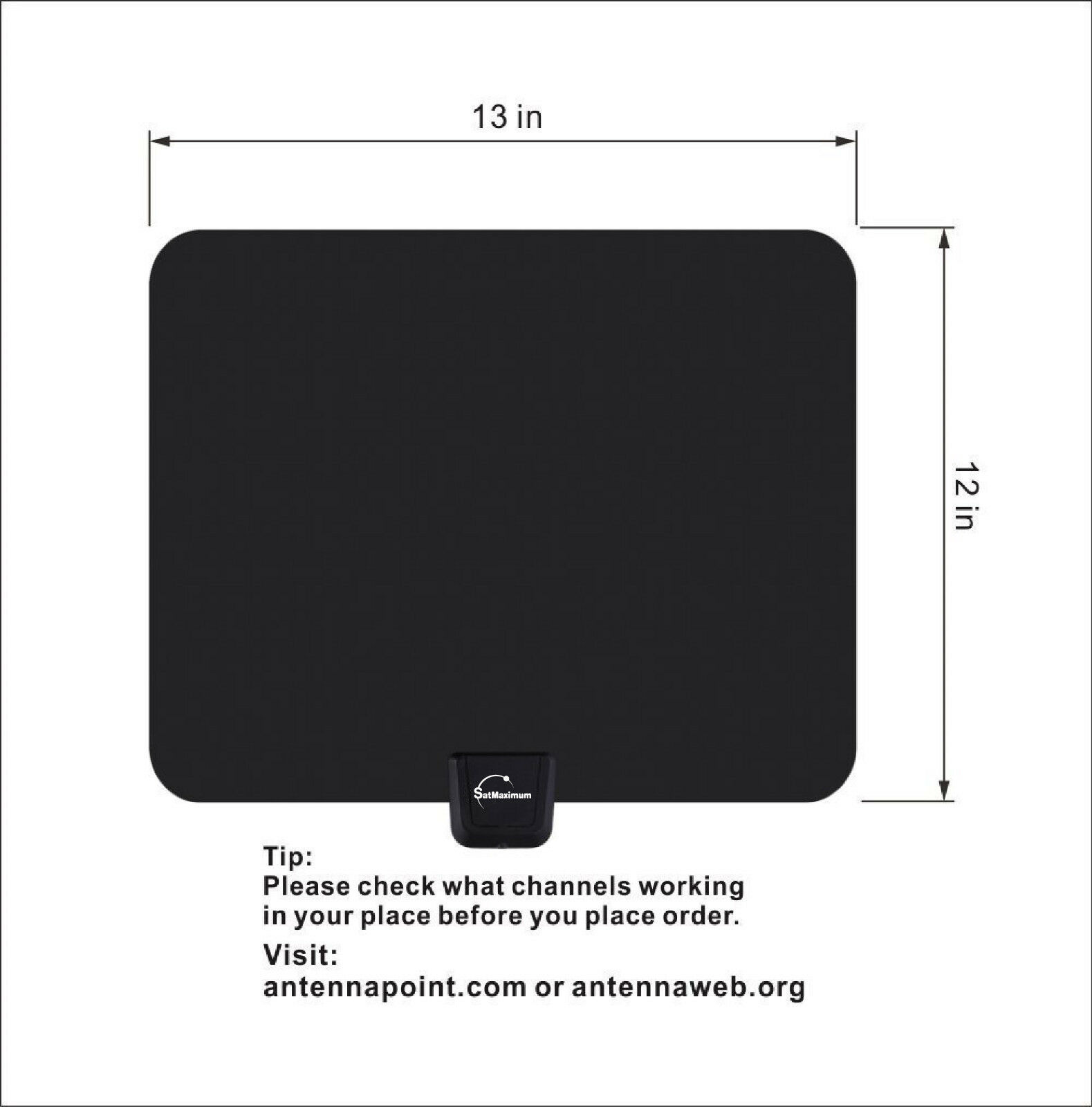 Digital High Definition Ultra Thin Flat Antenna Hdtv Tv Hd Vhf Fox Scout VHF//HVF