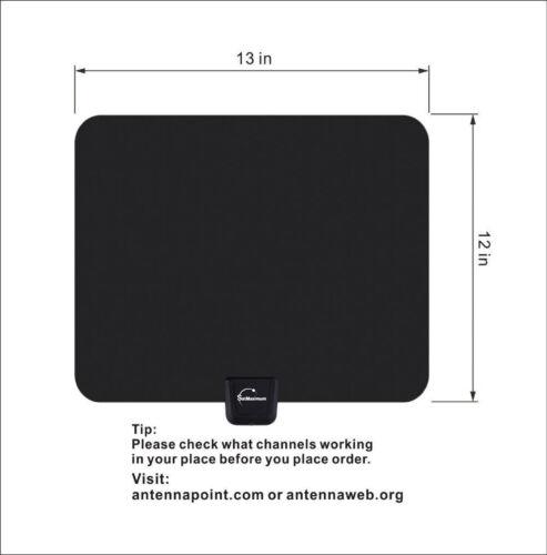 Digital High Definition Ultra Thin Flat Antenna Hdtv Tv Hd Vhf Fox Scout Style 2