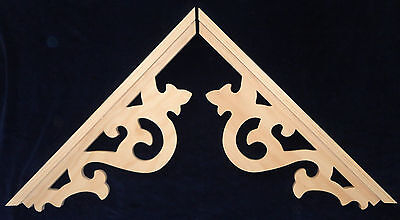 L G Victorian Gingerbread Gothic Fretwork Pine Exterior Gable End Trim 4 Sets Ebay