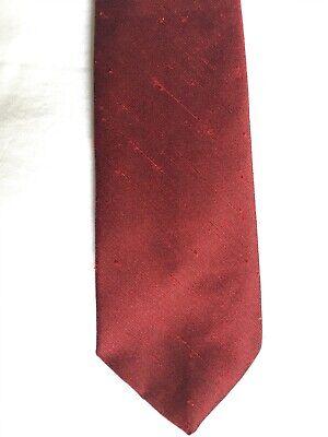 Aggressivo Vintage Da Uomo Cravatta, 1950s/1960s, Mod Style, Tessuto Rosso Scuro Con Trama, Immacolata-mostra Il Titolo Originale