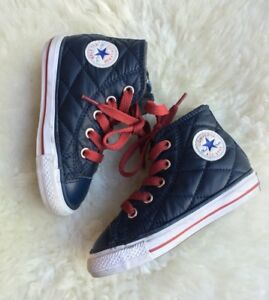 8ef6949cb21c Converse Chuck Taylor All Star High Tops Navy Quilted Toddler ...
