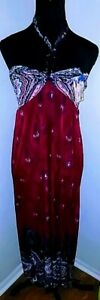 Womens-Sundress-Size-XL-Maxi-Halter-Dress-Multi-color-New