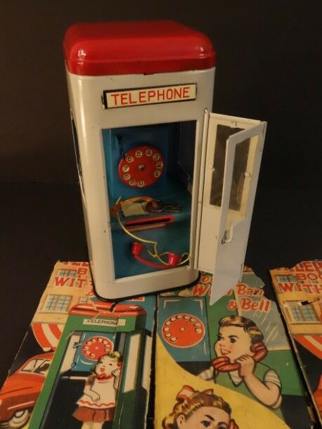 All Original Telephone avvioh BANK With Bell Mint Condition Japan 1950