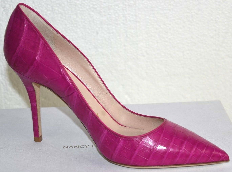 Neu Nancy Gonzalez Gonzalez Gonzalez Stechpalmen 90 Pumps Krokodil Rosa Alligator Schuhe 40.5 a9b2a2