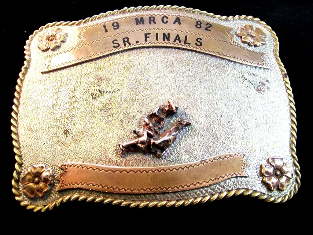 1982 Mrca Senior Finale Silber Wade Abseilend Western Cowboy Rodeo BAR J Gürtel