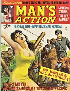 Man's Action Magazine: January 1970 - Sex, Crime, Nazis, Pulp, Wife-Swap