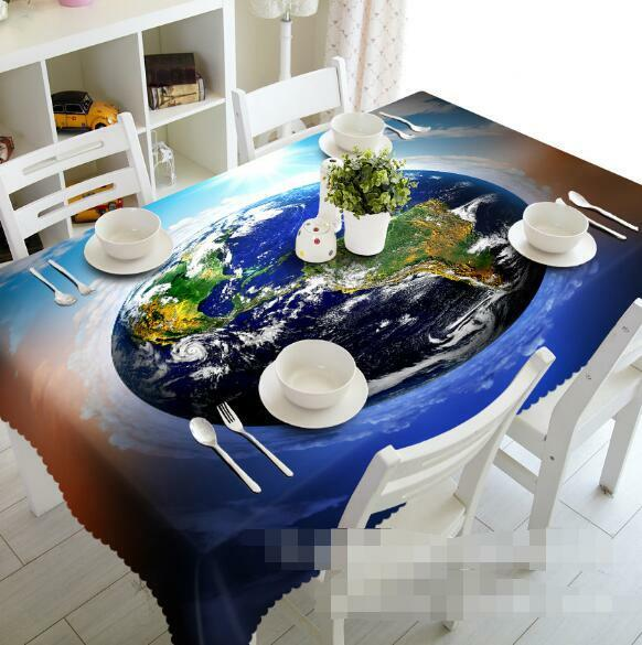 3D Pretty Earth 2 Tablecloth Table Cover Cloth Birthday Party Event AJ WALLPAPER