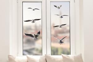 Hochwertige Fenstersticker Möwen Vögel Tiere Fensterbilder Fensterfolie Deko