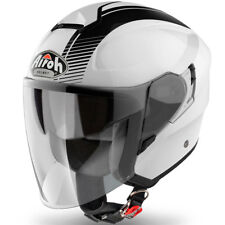 Panthera casco de moto half jet Paris blanco brillante talla S