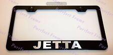 Volkswagen JETTA LASER Style Black Stainless Steel License Plate Frame W/Caps