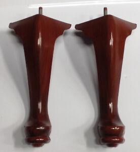 Queen Anne Plastic Furniture Feet Chair Sofa 2 Legs 10 ...