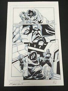 OA-Original-Art-UNKNOWN-ARTIST-Judge-Dredd-Anderson-PSI-page-11-034-by-17-034-signed