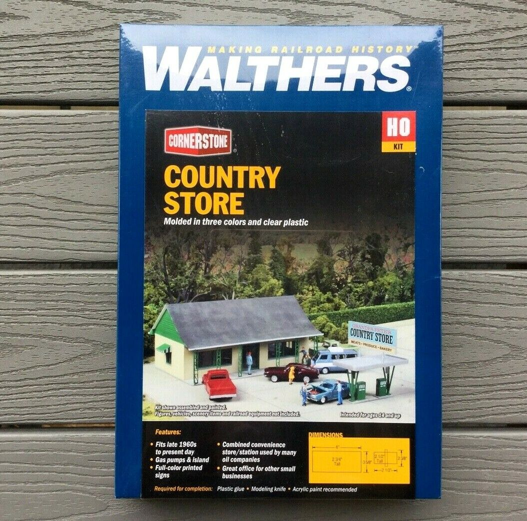 WALTHERS 1 87 HO CORNERSTONE COUNTRY STORE  BUILDING MODEL KIT ITEM 933-3491 F S
