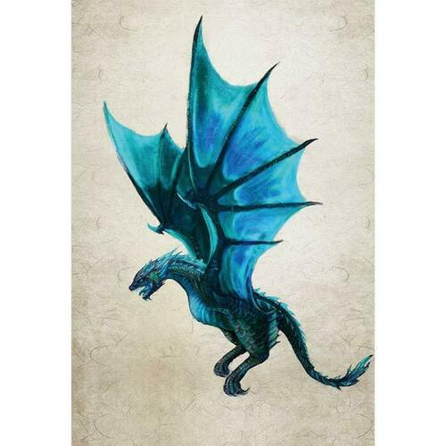 "Details about  /Mythical Dragon Garden Flag House Banner Linen Yard Banner 12x18/"""