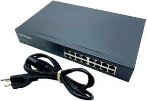 TP-LINK TL-SG1016D 16 Port Gigabit Ethernet Switch - TESTED w/ CORD + WARRANTY!!