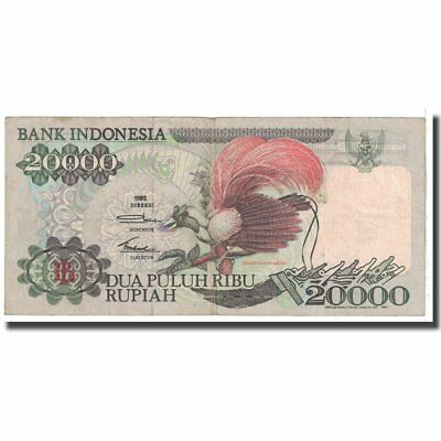 Banknote Choice Materials 20-25 Km:132a Indonesia #123071 1992 Generous Vf 20,000 Rupiah