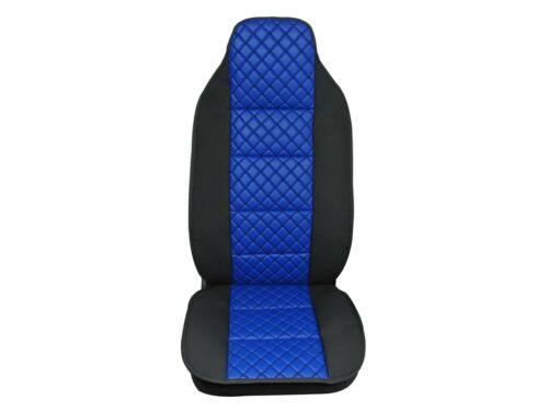 Coppia Coprisedili Similpelle Blu e Tessuto Nero Per DAF XF LF Volvo FL FM