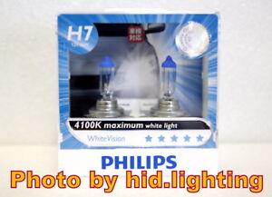 Image is loading  Genuine-Philips-WhiteVision-White-Vision-H7-4100K-headlight-