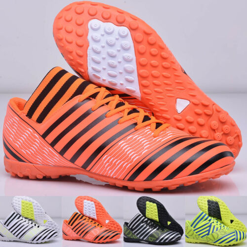 Mens Kids Boys Soccer Shoes Indoor Turf Futsal Sneakers TF Football Cleats Boots
