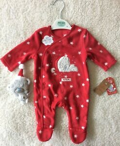 My First Christmas Baby boys girls Sleep suit Babygro  Hat Fancy Dress Novelty