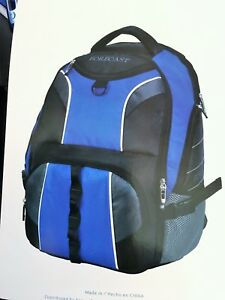 Details About New Forecast Blue Backpack School Book Bag W 17 Laptop Compartment