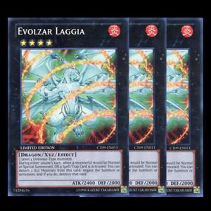 x3 Evolzar Laggia Limited Edition CT09-EN011 Super Rare