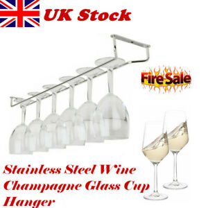 27-35-55cm-Wine-Glass-Hanger-Rack-Stemware-Home-Bar-Pub-Holder-Stainless-Steel