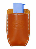 Barsony Tan Leather Magazine Pouch For Makarov Feg Mini/pocket 22 25 380