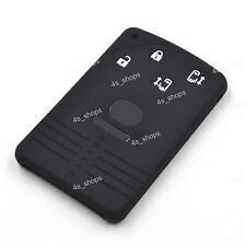 4 Buttons Black Silicone Shell Remote Smart Key Card Cover For Mazda 5 6 CX7 CX9