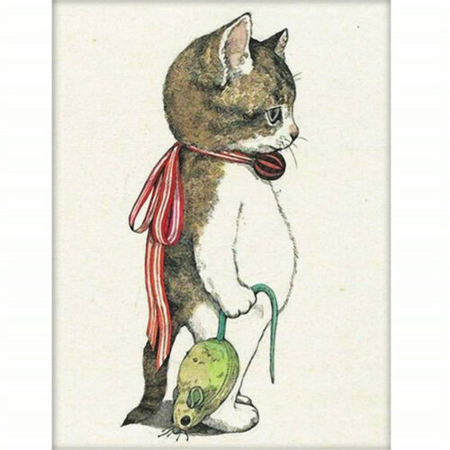 1set 5D Diamond Painting Cat And Mouse DIY Cross Stitch Embroidery Home Decor^